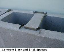 100 MASONRY MORTAR JOINT SPACER'S for DIY Block & Bricklaying