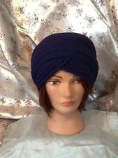Ladies Vintage style Navy Colour hat/turban . . 1920's 30's Style