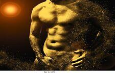 Mann,Erotik,Akt, Bild auf Leinwand / Man 1L_1374