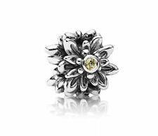 New Authentic Pandora Charm Edelweiss Flower Yellow 791176CZY W Suede Pouch