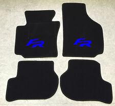 Autoteppich Fußmatten Seat Leon 1P FR schwarz-blau ab 05' Formula Racing Neu 4tl