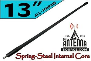 """ALL-TERRAIN 13"""" RUBBER ANTENNA MAST - FITS: 1980-1996 Ford Bronco"""