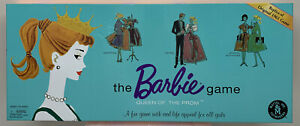 New Barbie Queen of The Prom Board Game 1961 Replica Mattel 2006 Complete