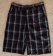 Boy's 17th Street Black and White Plaid Shorts-Size 30Waist