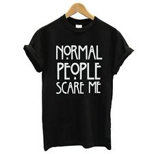 Casual Normal people scare me women Short sleeve casual cotton T shirt Tops Hot