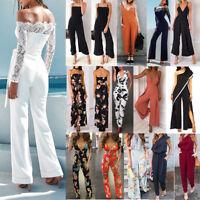 Women Playsuit Party Jumpsuit Romper Long Trousers Pants Clubwear Summer Lot