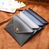 1PC PU Leather Minimalist Money Bag Business Coin Purse Card Holder Zero Purse a