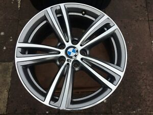 "2 X GENUINE BMW 3 & 4 SERIES 19"" 442 M SPORT DOUBLE SPOKE ALLOY WHEEL ONLY 8.5J"
