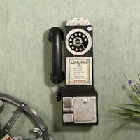 Antique Style Rotatif Mural Téléphone Modèle Stand Téléphone Figurine Décor 30cm