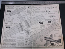 VINTAGE GUILLOW'S KIT #901 AMERICAN T-2D SCALE AIRPLANE DRAWINGS PLANS *VG-COND*
