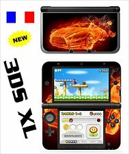 SKIN STICKER AUTOCOLLANT DECO POUR NINTENDO 3DSXL REF 132 VOITURE FLAMME