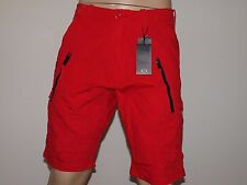 ARMANI EXCHANGE Authentic Utility Zipper Detail Shorts True Red NWT