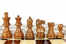 """Golden Rose Wood Unique Staunton Wooden Chess Set Pieces King size 3"""" Weighted"""