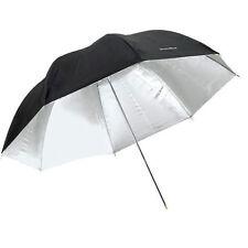"""33"""" Studio Flash Light Reflector Silver Black Umbrella for Photo"""