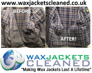 Clean & Rewaxing Service to Barbour Bedale Size 36