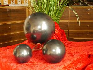 Schungit Ball Шар Original From Zazhoginskij Mine! 1 3/16in -> 5 7/8in Polished