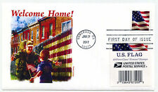 5160 US Flag, 2017, BCA booklet single, with label from book, Panda Cachets, FDC