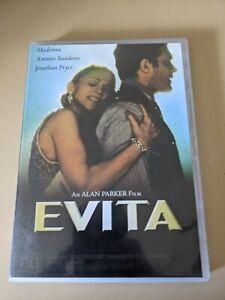 Evita - Genuine Region 4 DVD 1997 Madonna Antonio Banderas