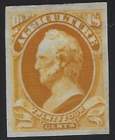 US Stamps - Scott # O8P3 - Dept. of Ag. - Plate Proof on India Paper     (C-182)