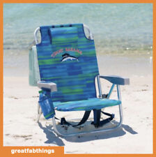 Tommy Bahama Backpack Beach Chair Portable Seat with Drink Holder & Phone Pocket