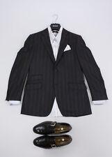 🔥 CANALI 100% wool 🔥 Striped Gray Blazer Jacket SIZE US 40 R, EU 50