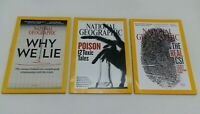 Lot 3 National Geographic Magazine Crime Science CSI Toxic Poison Why We Lie