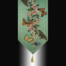 FRENCH COUNTRY BUTTERFLY FLORALS TAPESTRY WEDDING PARTY BED TABLE RUNNER CLOTH