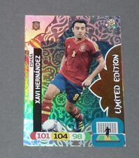 XAVI LIMITED EDITION ROJA ESPAGNE ESPAÑA FOOTBALL CARD PANINI UEFA EURO 2012