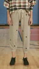 THE GREAT women's The Cropped Sweatpants w/ badge embroidery NWT 3