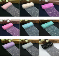 Sequin Star Tulle Rolls Spool Sewing Mesh Fabric DIY Tutu Wedding Decoration