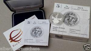 5 euro Italia 2015 ag BE PP Fs proof giardin BOBOLI Firenze Italie Italy Italien