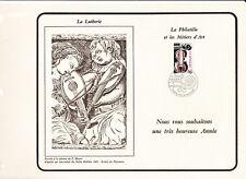 sp feuillet CEF voeux , la Lutherie métiers d'art Paris et Mirecourt 1979