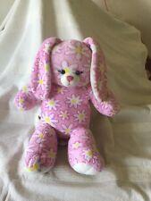 White Rabbit Teddy With Flower Print