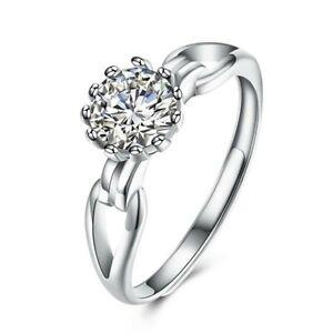 Damen Solitär Ring 925er Sterling Silber  Cubic Zirkonia AAA Verlobung Ring