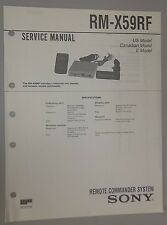 Sony Car CD Changer Remote Commander System RM-X59RF OEM Service Manual