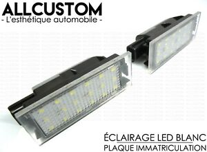 2 LED LICENSE PLATE LIGHT WHITE for RENAULT MEGANE 2 II CC TURBO GT RS Sport R26