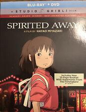 New Spirited Away 2 Disc Blu-ray and Dvd Set Slipcover + Booklet, Studio Ghibli