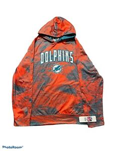 BNWT Team Nike Apparel Miami Dolphins Teal-Blue-Orange Hoodie Size Medium New