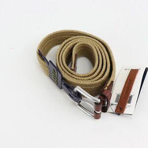 Polo Ralph Lauren Mens Braided Stretch Belt Timber Brown-Size XL 38-40