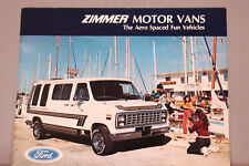 1981 USA Ford ZIMMER VANS Models Brochure 6 pages