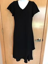 Dress Barn Little Black Dress Sz 10 Flutter Sleeve And Hem Knee Length So Cute!