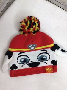 Nickolodeon Paw Patrol Beanie Hat Ears Toddler One Size Adorable Excellent Cond