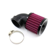 1x Universal 90° Motorcycle Air Cleaner Intake Filter For Bobber Chopper Cruiser
