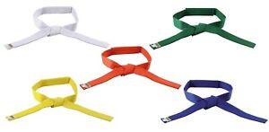 Klett Gürtel für Kinder. Kwon. Karate. Budosport. In weiß/gelb/orange/grün/blau