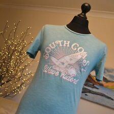 Fat Face Mens Crew Neck Tee T-Shirt Top SS Light Green South Coast Sz. XS - New