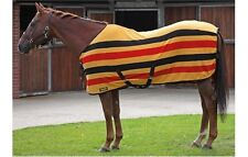 KNIGHT RIDER 6 FEET 9 INCHES HORSE FLEECE BLANKET / RUG IN BLACK, RED & YELLOW