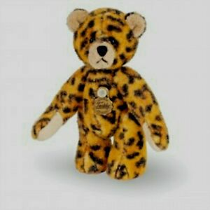 Teddy Hermann jointed collectable miniature leopard teddy bear in gift box 15451