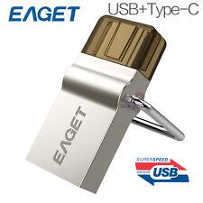EAGET CU10 64GB Type-C 3.1 USB3.0 Micro USB OTG Flash Drive Smartphone Memory
