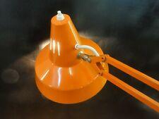 Vintage 70er Architekten Lampe Gelenk Klemm Tisch Leuchte Orange Funktion