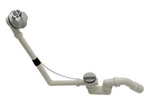 Ablaufgarnitur Überlaufgarnitur Badewanne Wannenablauf Siphon Chrom Fertigset